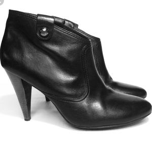 Coach Aliza Black Leather Ankle Boots, size 8.5